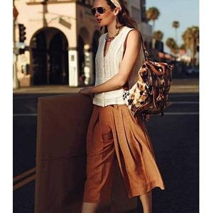 Elevenses 'Kinney' Wide Leg Culottes In Rust